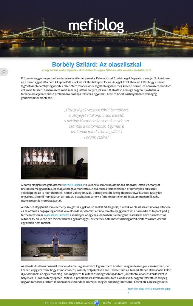 mefiblog v3 dizájn